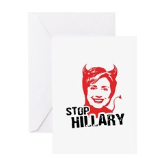 STOP HILLARY Greeting Card