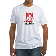 STOP HILLARY Fitted T-Shirt
