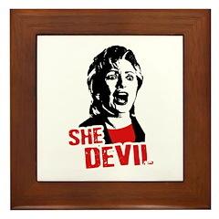 She Devil / Anti-Hillary Framed Tile