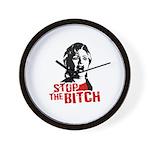 Stop the bitch / Anti-Hillary Wall Clock