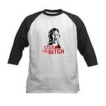 Stop the bitch / Anti-Hillary Kids Baseball Jersey