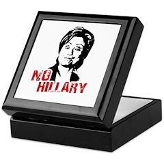 Anti-Hillary: No Hillary Keepsake Box