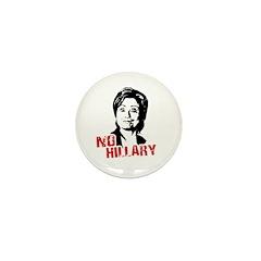 Anti-Hillary: No Hillary Mini Button (100 pack)