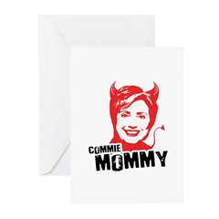 Anti-Hillary: Commie Mommy Greeting Cards (Pk of 2