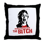 Just say nyet / Anti-Hillary Throw Pillow