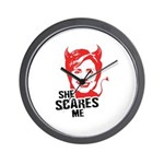 Anti-Hillary: She Scares Me Wall Clock