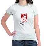 Anti-Hillary: She Scares Me Jr. Ringer T-Shirt