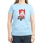 Anti-Hillary: She Scares Me Women's Light T-Shirt