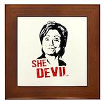 Anti-Hillary: She-Devil Framed Tile