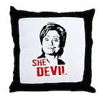 Anti-Hillary: She-Devil Throw Pillow