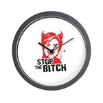 Stop the Bitch Wall Clock