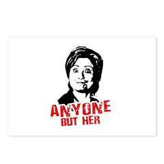Anti-Hillary: Anyone but her Postcards (Package of