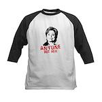 Anti-Hillary: Anyone but her Kids Baseball Jersey