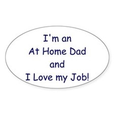 At Home Dad Oval Decal