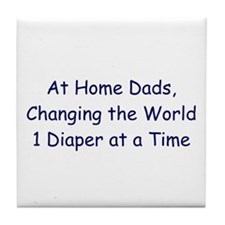 At Home Dad Tile Coaster