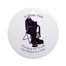 At Home Dad Ornament (Round)