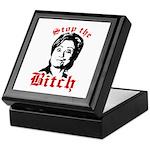 Anti-Hillary: Stop the Bitch Keepsake Box