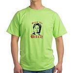 Anti-Hillary: Stop the Bitch Green T-Shirt