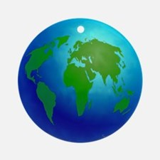 Earth Globe Ornament (Round)