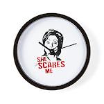 Anti-Hillary: She Scares Me Wall Clock