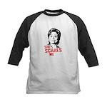 Anti-Hillary: She Scares Me Kids Baseball Jersey