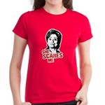 Anti-Hillary: She Scares Me Women's Dark T-Shirt