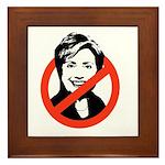 Anti-Hillary Framed Tile
