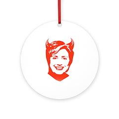 Hillary the Devil Ornament (Round)