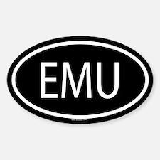EMU Oval Decal