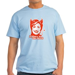 Hillary Clinton is the devil T-Shirt