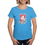Anti-Hillary: Anyone but her Women's Dark T-Shirt