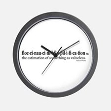 Floccinaucinihilipilification Wall Clock