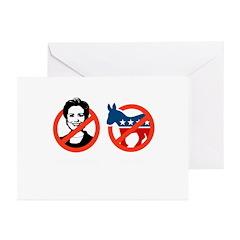 Anti-Hillary & Anti-Ass Greeting Cards (Pk of 20)