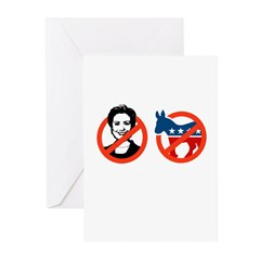 Anti-Hillary & Anti-Ass Greeting Cards (Pk of 10)