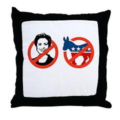 Anti-Hillary & Anti-Ass Throw Pillow