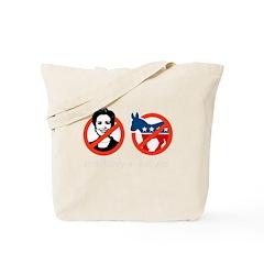 Anti-Hillary & Anti-Ass Tote Bag