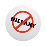 No Hillary Ornament (Round)