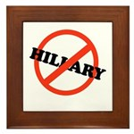 No Hillary Framed Tile