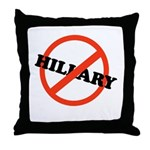 No Hillary Throw Pillow