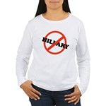 No Hillary Women's Long Sleeve T-Shirt