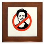 AntiHillary Framed Tile