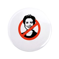 """AntiHillary 3.5"""" Button"""