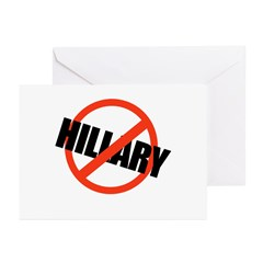 Anti Hillary Greeting Cards (Pk of 20)