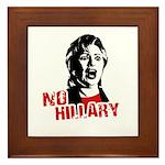No Hillary / Anti-Hillary Framed Tile