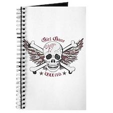 Girl Gone Wild Winged Skull Journal