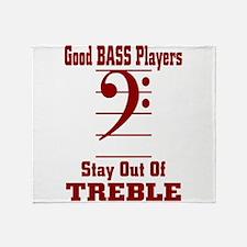 Cute Bass player Throw Blanket