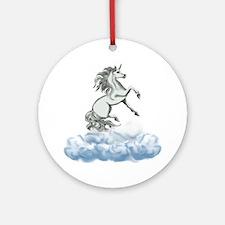 Unicorn Clouds Ornament (Round)