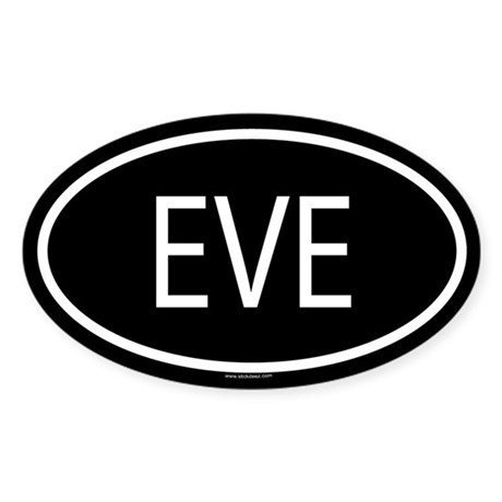 EVE Oval Sticker