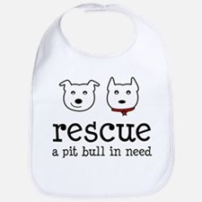Rescue a Pit Bull Bib