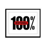 100 Percent Natural Framed Panel Print